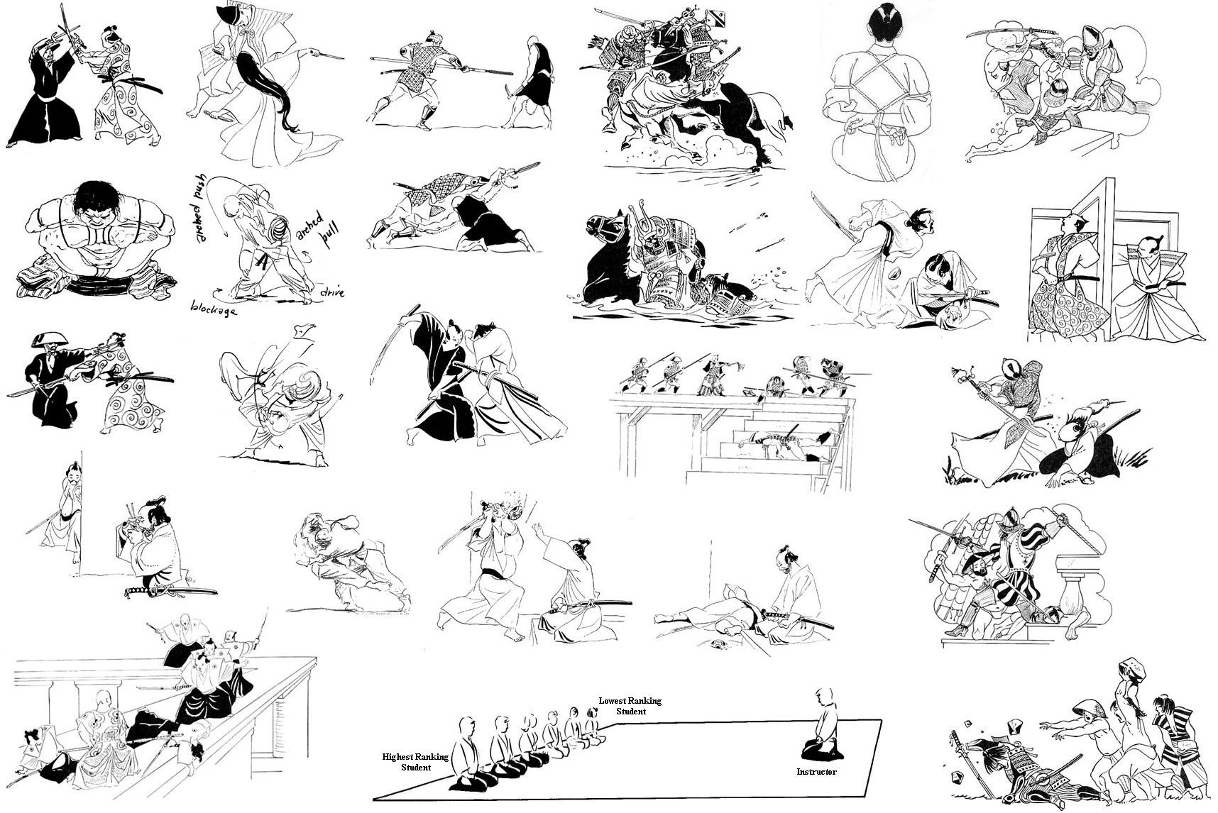 Рисунки Айкидо от О. Ратти