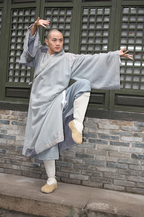 Yu Shao-qun on the set of SHAOLIN (2010).