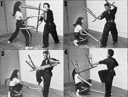 Обучение ударов скамейкой