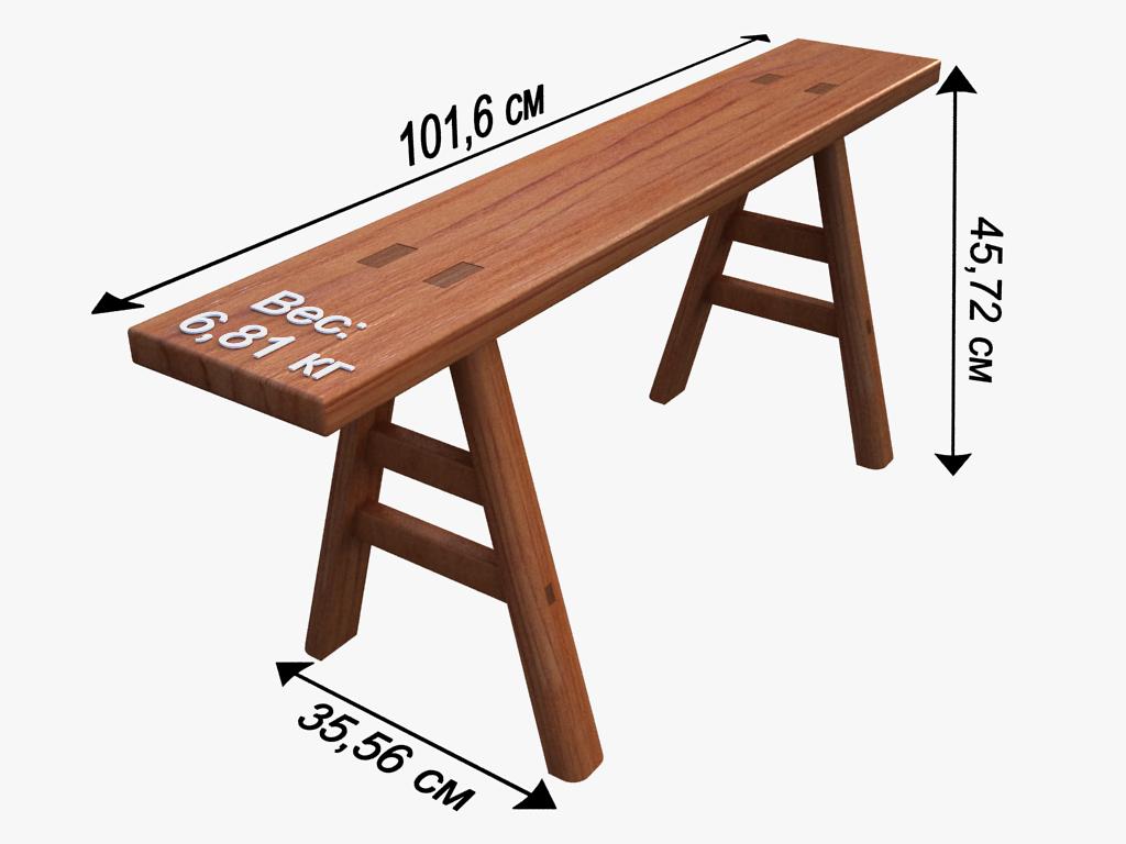 Модель скамейки