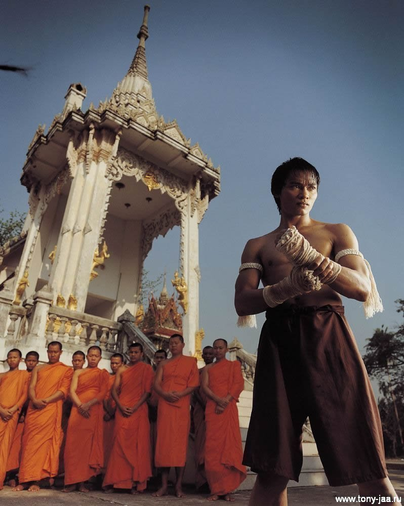 Тони Джаа (Tony Jaa) на фоне храма