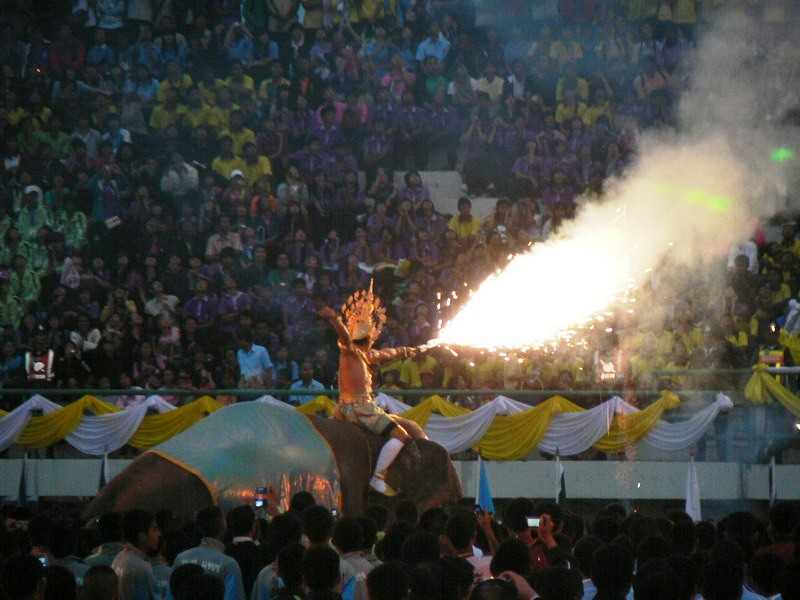 На церемонии открытия  Elephant's City Games