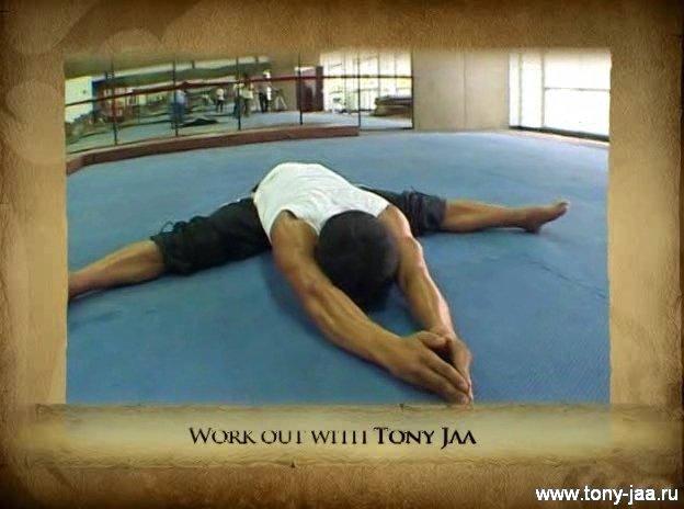 Тони Джаа (Tony Jaa)    на шпагате
